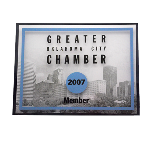Chamber of commerce - membership plaque