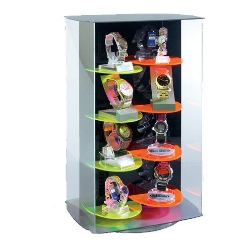 Watch display case - locking